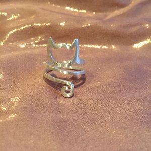 😺 Twirly kitty cat ring 😺